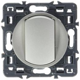 Interrupteur ou va-et-vient doigt large Céliane Soft - 10 A - Titane - LEGRAND