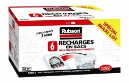 Recharges en sacs pour absorbeur d'humidité Classic - 6 sacs - RUBSON
