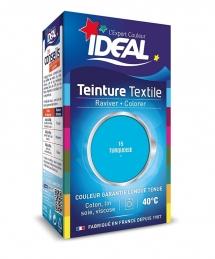 Teinture liquide pour textile - Raviver / Colorer - Turquoise - 40 ml - IDEAL