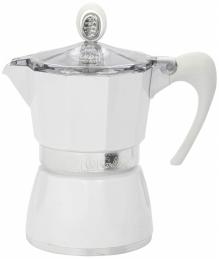 Cafetière italienne - 3 Tasses - Bella - Blanc - GAT