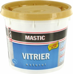 Mastic de vitrier - 1 Kg - Naturel - PVM