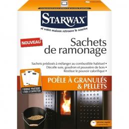 Sachets de ramonage - Poêle à granulés et Pellets - STARWAX