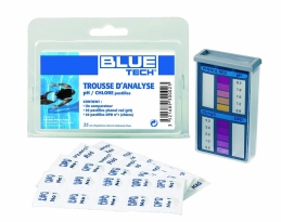 Trousse d'analyse Chlore et PH - Pastilles - BLUE TECH