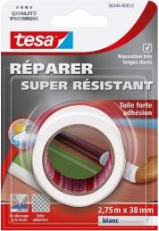 Toile adhésive super résistante - Blanc - 2.75 M x 38 mm - TESA