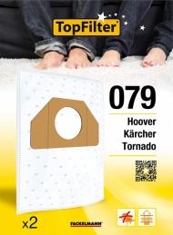 Sac PREMIUM 64079 Hoover Kärcher Tornado - Lot de 2 - TOPFILTER