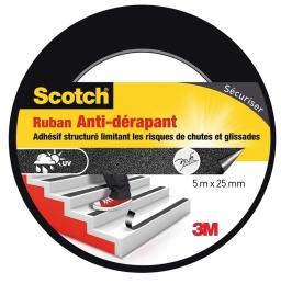 Ruban anti-dérapant pour escalier - 5 M x 25 mm - Scotch