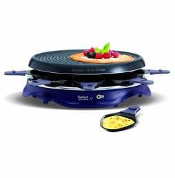 Appareil à raclette et crêpière - 8 coupelles - Simply - Bleu - TEFAL