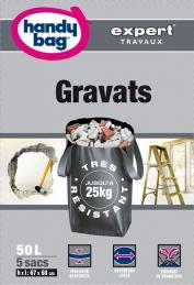 5 Sacs à gravats - Poignées - 25 Kg - 50 L - HANDY BAG