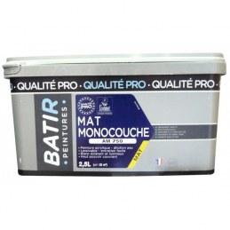 Peinture monocouche - Aspect Mat - Blanc - 2.5 L - BATIR