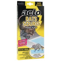 Piège à glu - Rats et souris - x 2 - ACTO