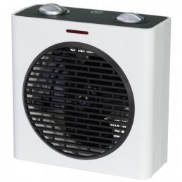 Radiateur soufflant 2000 Watts - Cube - Blanc et Noir - VARMA