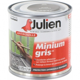 Primaire antirouille - Minium Gris - Protection anti-corrosion durable - 125 ml - JULIEN