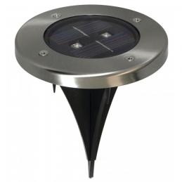 Spot solaire pour sol - Rond - 2 LED - RANEX