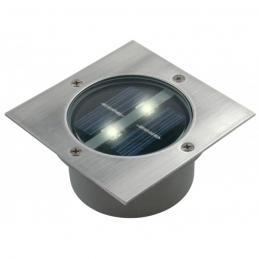Spot solaire encastrable - Carré - 2 LED - RANEX