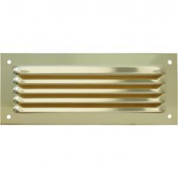Grille de ventilation sans moustiquaire - métal - Rectangle - 190 x 100 mm - Laiton - DMO