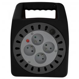 Enrouleur domestique - 15 M - H05 VV-F 3G 1,5 mm² - DHOME