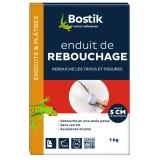 Enduit de rebouchage en poudre - Fissures jusqu'à 5 cm - 1 KG - BOSTIK