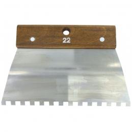 Peigne en acier Cambre - 22 cm - Denture carrée 8 x 8 mm - 10 x 10 mm - OUTIBAT