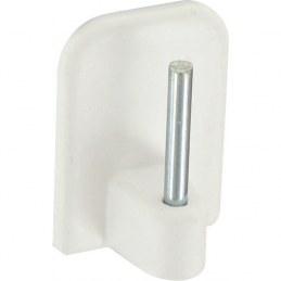 Support adhésif en plastique pour Tringle ovale - Blanc - Vendu par 4 - ATELIER 28