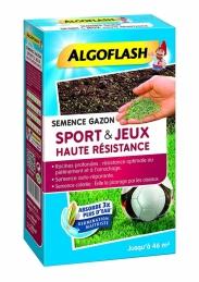 Semence Gazon Sport et Jeux Haute Résistance - 1 Kg - 46 m² - ALGOFLASH