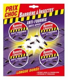 4 boîtes d'appâts anti-fourmis - Barrière à insectes - COMPO