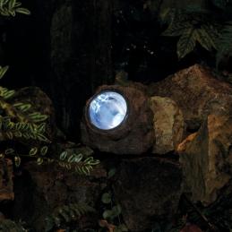 Spot incrusté dans une roche en résine - Solaire - Naxos - 3 LED - RANEX