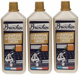 Savon de marseille liquide pour sols carrelés - Lot de 3 bouteilles de 1 L - BRIOCHIN