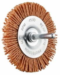 Brosse abrasive circulaire - Rouge - Nylon - 100 mm - SCID