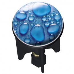Bouchon clapet de lavabo - Pluggy - Goutte d'eau - 4 cm - WENKO