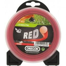 Fil rond pour débrousailleuse - Nylon - RED - 3 mm x 9 M - OREGON