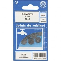 Joint Clapet plein Robinet - 13 x 7 mm - Lot de 6 - GRIPP