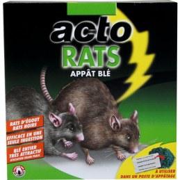 Raticide - Appât blé - 140 Grs - ACTO