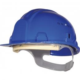 Casque de chantier avec coiffe - Bleu - OUTIBAT