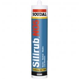 Mastic universel silicone - SILIRUB N05 - 310 ml - SOUDAL