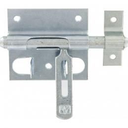 Verrou de box ou targette porte-cadenas - Acier zingue blanc - Ø mm.14 - 140 mm - MERMIER