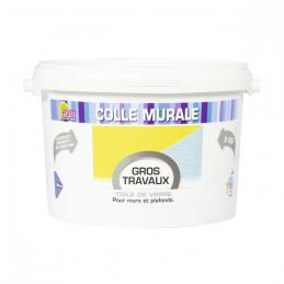 Colle murale pour toile de verre - Gros travaux - Murs et plafonds - 5 Kg - PVM