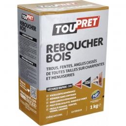 Enduit de rebouchage - Reboucher Bois Poudre - Trous et fentes - 1 Kg - TOUPRET