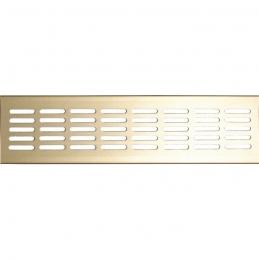 Grille de ventilation à encastrer - métal - 300 x 80 x 9.5 mm - Or - DMO