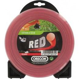 Fil rond pour débrousailleuse - Nylon - RED - 3 mm x 53 M - OREGON