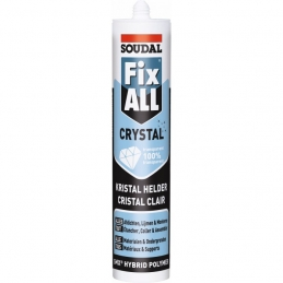 Mastic de construction monocomposant - Fix All Crystal - Transparent - 290 ml - SOUDAL