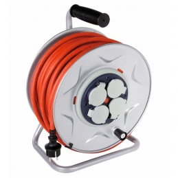 Enrouleur professionnel Moyeu fixe - 25 M - H07 RN-F 3G 2,5 mm² - DHOME