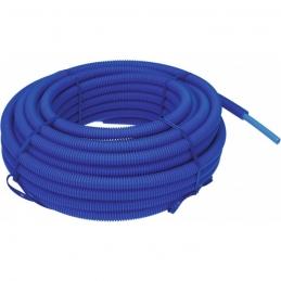 Tube polyéthylène réticulé gaine (P.E.R) - Bleu - 25 M - 13 x 16 mm