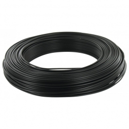 Câble d'installation H07V-U 2.5 mm² - 100 M - Noir - ELECTRALINE