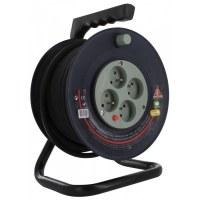 Enrouleur bricolage Dhome - H05 VV-F 3G 1,5 mm² - Longueur 25 m
