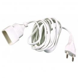 Rallonge câble méplat 3 M - Blanc - DHOME
