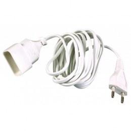 Rallonge câble méplat 5 M - Blanc - DHOME