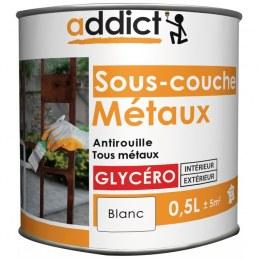 Sous-couche Métaux - Glycéro - Blanc - 0.5 L - ADDICT