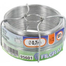 Fil d'attache pour grillage - Acier galvanisé - 100 m - Ø 0.7 mm - FILGRAF