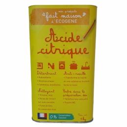 """Acide citrique - """"Fait maison"""" - 1 Kg - ECOGENE"""