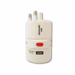 Adaptateur universel de voyage, rotatif 150 pays + USB - WATT&CO